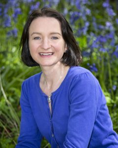 natural portrait with bluebells