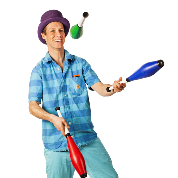 man juggling circus skills for reviews