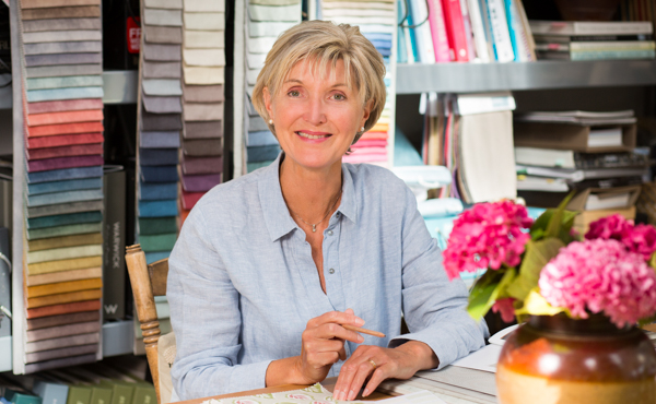 Jane Fleming in her Cotswold Soft Furnishings office for reviews
